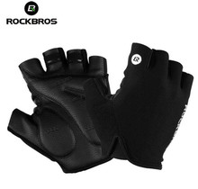 ROCKBROS Cycling Bike Gloves Half Finger Shockproof Breathable MTB Mountain Bicycle Sports Gloves Men Women Cycling Equipment rockbros cycling bike half finger gloves shockproof breathable mtb mountain bicycle gloves men women sports cycling clothings