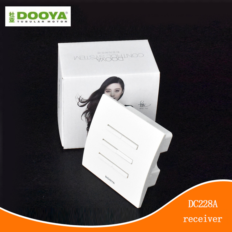 Dooya Electric Curtain Smart Home Wall Sticker Controller Dual Channel Wall Wireless Receiver Switch DC228A DC227A