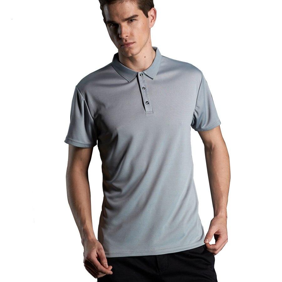 Quick Dry Polos Slim Fit Polo Shirt Männer Solide Atmungs Mode Herren-poloshirt Kurzarm Marken Günstige Camisa Masculina Um Eine Hohe Bewunderung Zu Gewinnen Und Wird Im In- Und Ausland Weithin Vertraut.