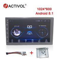 HACTIVOL 7 quadCore 1G 16G Android 8.1 Car radio for Nissan Hyundai Toyota Volkswagen Mazda BYD Kia VW car dvd player gps navi