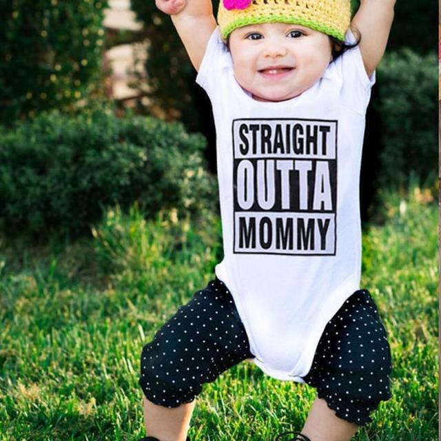 2018 New Hot Sales Letter Printing Funny Baby Boy Girls Newborn