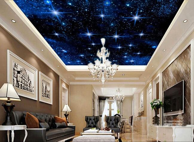 3d wallpaper custom mural non woven 3d room wallpaper Star studded night  sky zenith ceiling design photo wallpaper for walls 3d-in Wallpapers from  Home ...