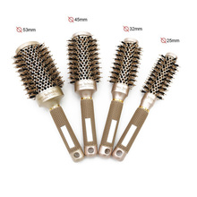 Round Hair Brush Set, Ionic Thermal Brush, Detangling Comb for Men or Women Blow Drying Curling Styling, 4 Size