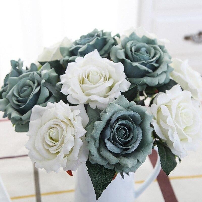1pc Beautiful Silk Flower Artificial Rose Fake Flower Wedding Flower Arrangement Home Decoration Diy