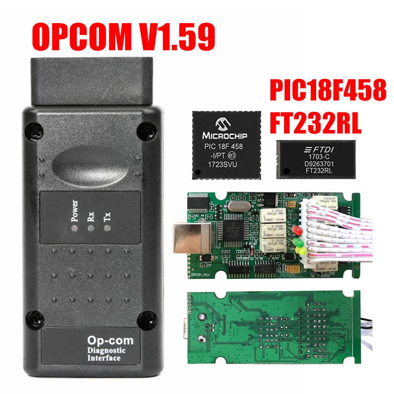 HTB13I 2XcnrK1RjSspkq6yuvXXa6 Newest Firmware OPCOM 1.99 1.95 1.78 1.70 1.65 OBD2 CAN-BUS Code Reader For Opel OP COM OP-COM Diagnostic PIC18F458 FTDI Chip