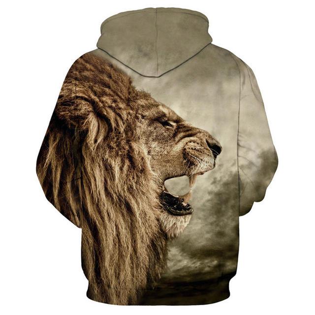 LION FACE 3D HOODIE