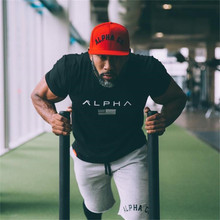 2018 New Brand Clothing Gyms Tight Cotton T-shirt Mens Fitness T-shirt Homme Gyms T Shirt Men Fitness Crossfit Summer Tees Tops