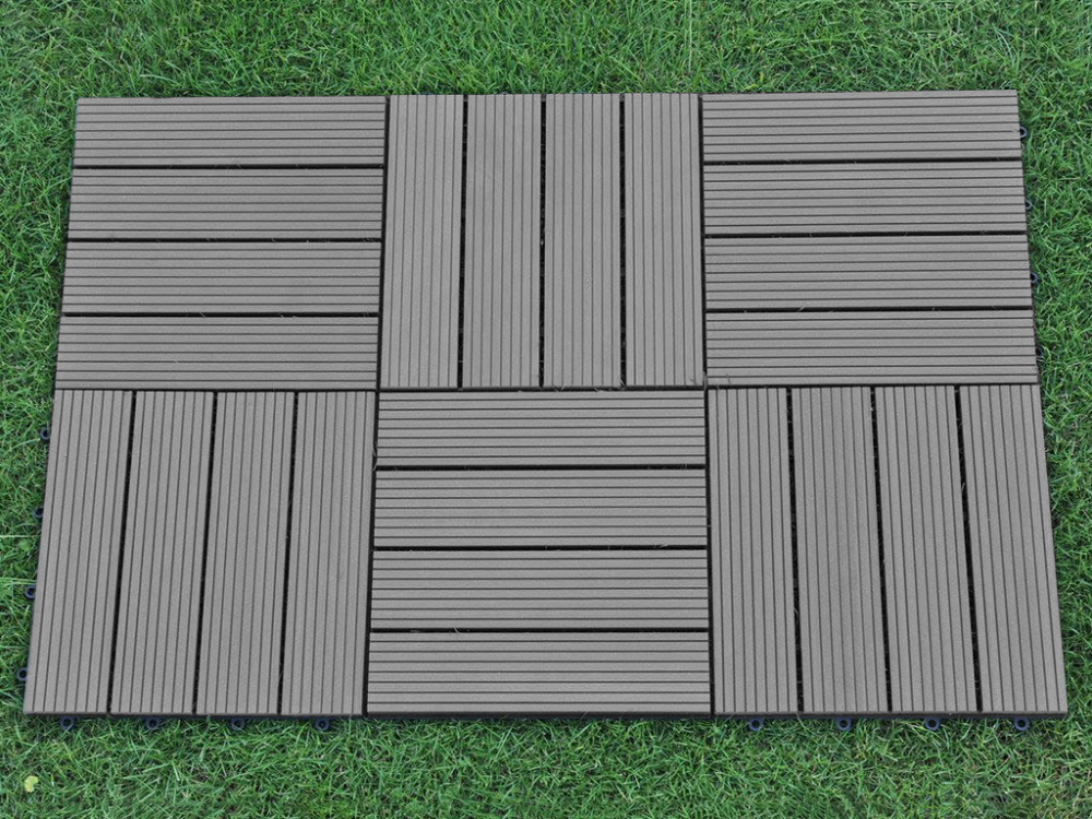 Outdoor Flooring Composite Interlocking Decking Tile