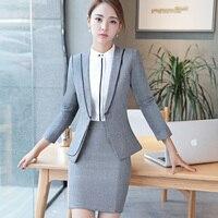 Plus Größe S-4XL Zwei Teilig Büro Uniform Designs Frauen Elegante Mode Rock Formelle Anzüge Damen Outfits Anzug L1361