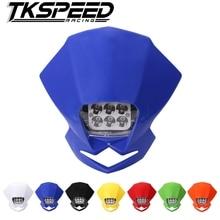 Универсальный светодиодный аксессуары для мотоциклов фары для мотокросса лампы Street Fighter эндуро KLX KDX для моделей ktm и rmz DRZ DR XR YZ CR