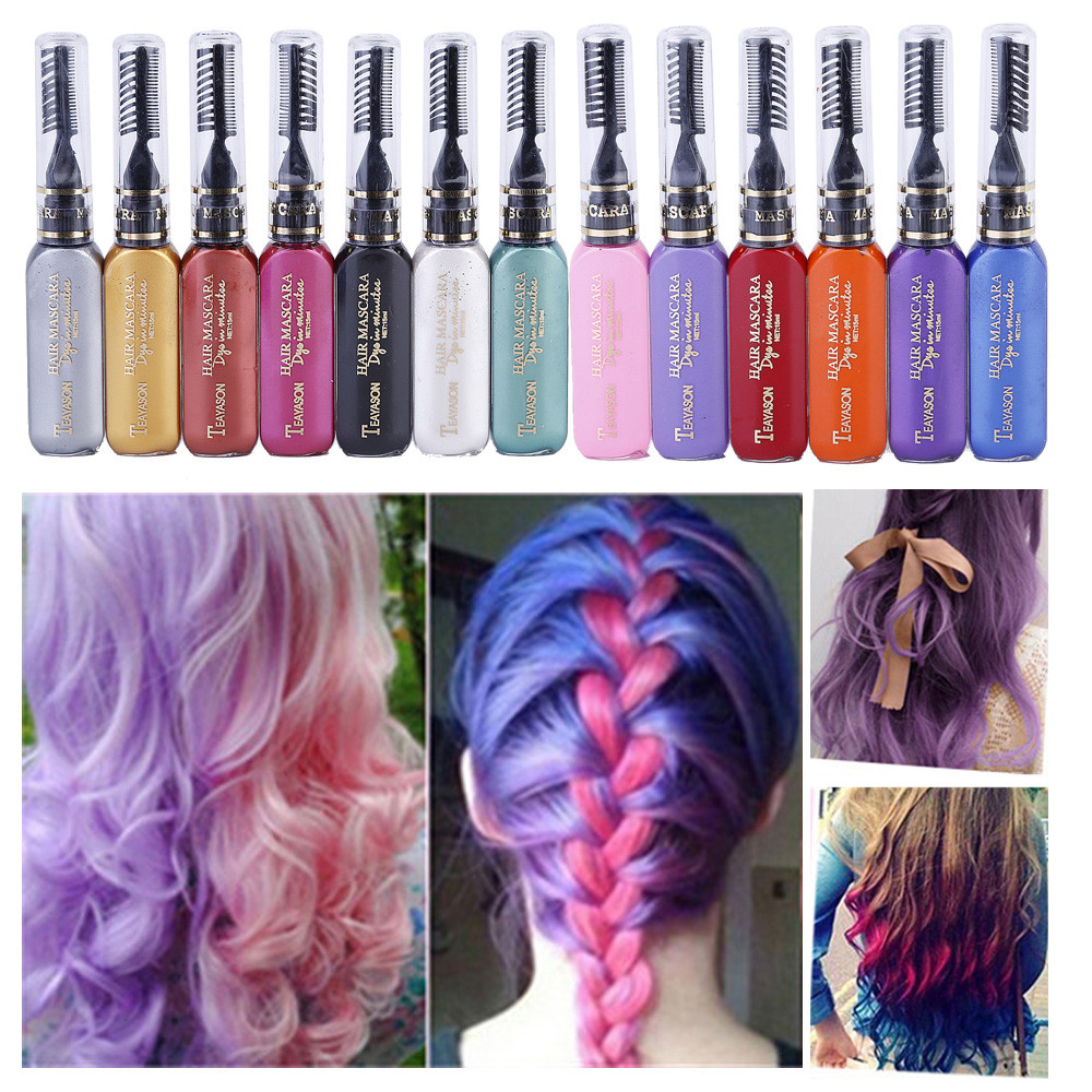 Us 1 68 25 Off 2018 Professional Diy Temporary Instant Hair Color Dye Highlights Streaks Touch Long Lasting Pigments Hair Tools Dropshipping In Hair