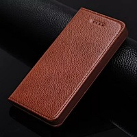 Genuine Leather Wallet Cases For Apple Iphone 4 4S Luxury Magnetic Flip Cover For Iphone 4