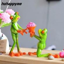 предложение путем преподнесение букета цветов — романтическая завидная любовь,  статуэтка-лягушка для украшения дома из высококачественного смолы, хороший подарок для подруги