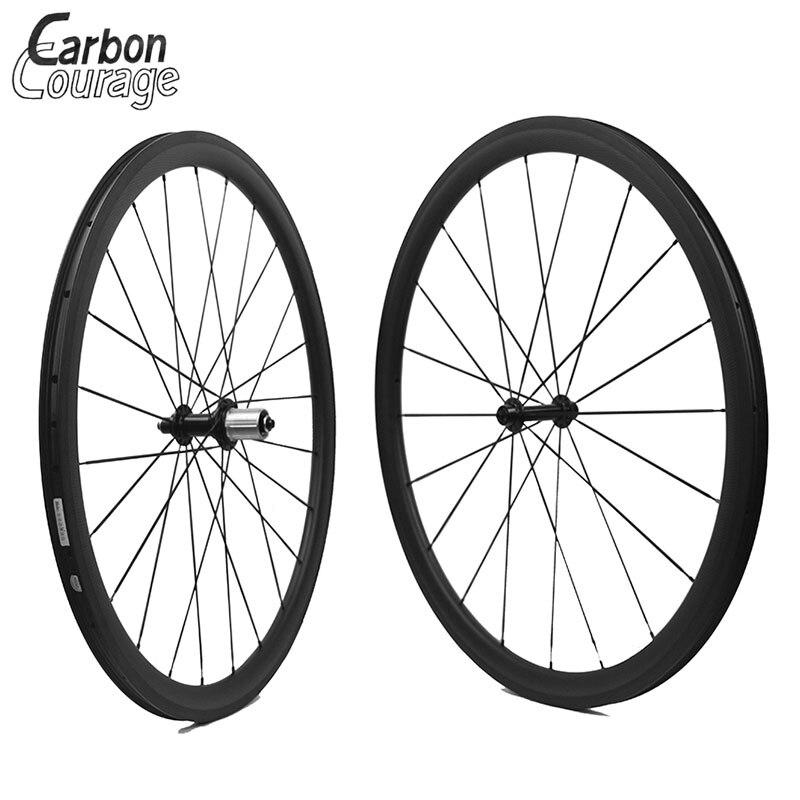 Лидер продаж не внешний отверстий Clincher углерода Колёса 700C 38/50/60/88 мм бескамерные Колёса et Road колеса велосипеда углерода Велосипедный Спорт К...