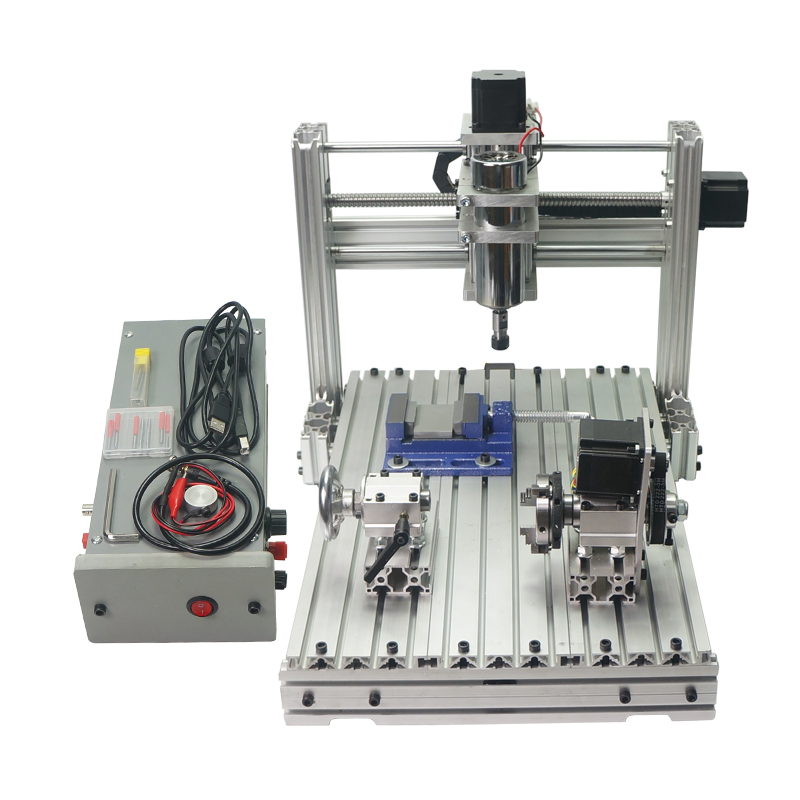 Mini CNC Woodworking Lathe Machine 3axis 4 axis 5 axis CNC 3040 Engraving Milling Machine 400W USB port Support Win 8 Win 10 3 axis cnc 4030 engraving machine 1500w water cooled drilling milling lathe with usb interface
