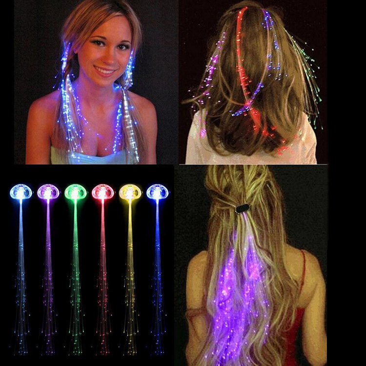 Strong-Willed 5pcs Led Wigs Glow In Dark Flash Ligth Hair Braid Clip Hairpin Kids Holiday Birthday Party Toy Gift Funny Luminous Ring Kids Toy