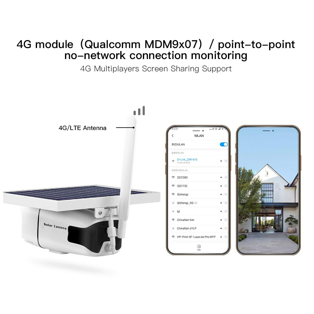 Image 3 - SmartYIBA 1080P 2.0M Wireless Solar Battery Power Waterproof Outdoor Surveillance Security CCTV IP Camera 4G SIM Video Recorder-in Surveillance Cameras from Security & Protection