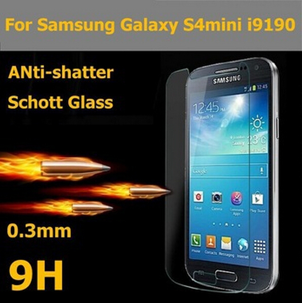 Top Quality Screen Protector Premium Tempered Glass For Samsung Galaxy S4 Mini GT I9190 i9192 i9195 Protective Film