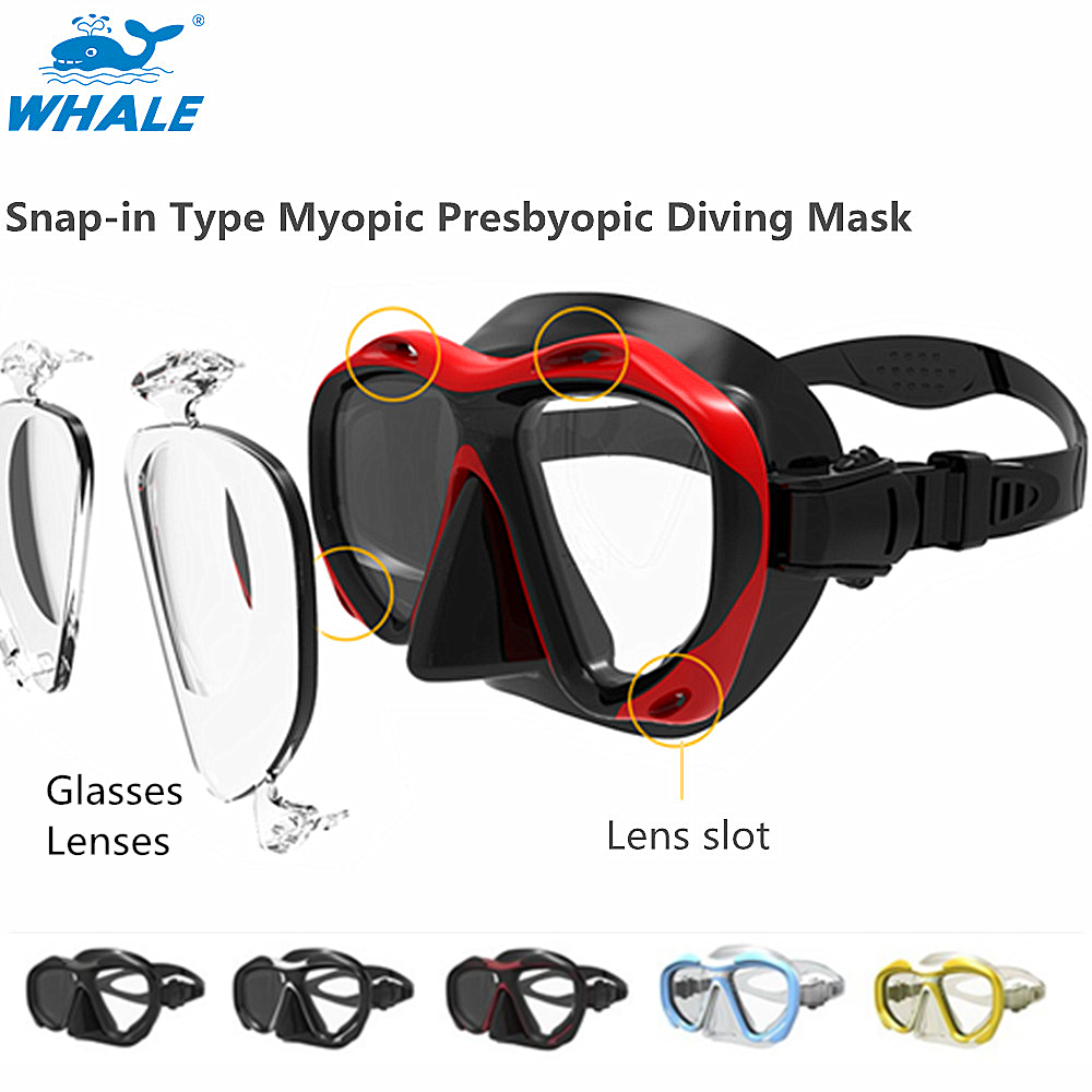 Professional Diving Equipment Full Face Diving Mask Fit For Spearfishing Scuba With Myopia And Hyperopia Lenses