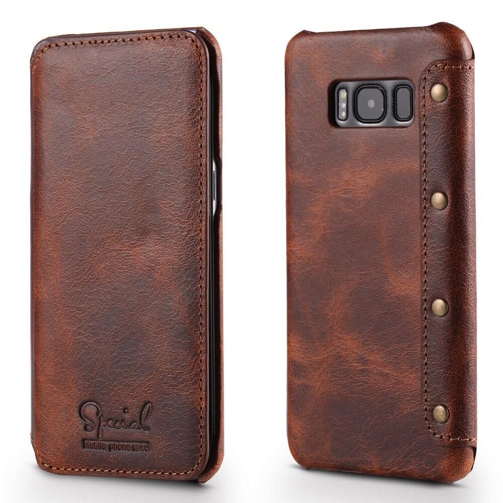 De luxe Flip Pour Coque Samsung S9Plus Cas Samsung Note 9 Cas S8Plus Note9 Couverture 360 Réel En Cuir pour Samsung Galaxy s8 S9 Plus