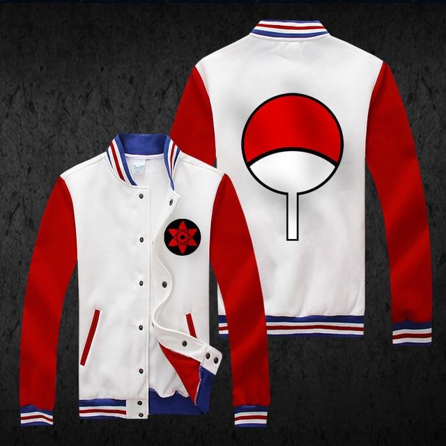 Naruto Hoodie Fashion Men Baseball Coat Anime Hatake Kakashi Cosplay Jacket Uchiha Itachi Sasuke Sweatshirt