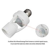 Smart PIR Infrared Ray Motion Sensor light Switch 110V-240V E27 LED lamp Bulb Holder Detector Time Delay Day Night Adjustable