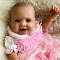 OtardDoll bebe Reborn Doll 20inch high quality reborn toddler princess girl doll Silicone vinyl adorable Lifelike Baby Toy