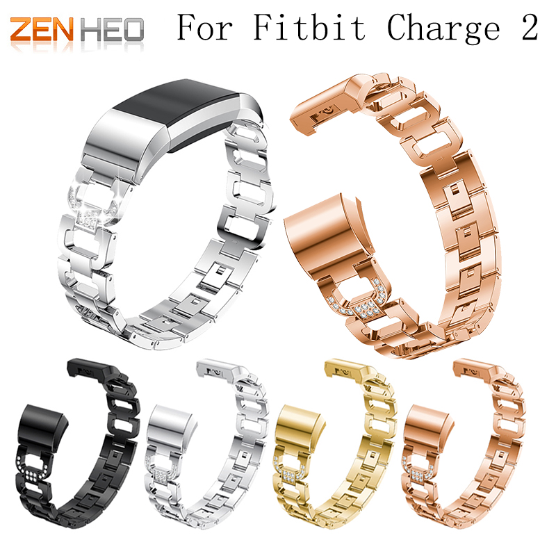ZENHEO Watch Band Stainless Steel Metal For Fitbit charge 2 WatchBand Strap Bracelet for Fitbit Charge 2 Smart Watch Women MenZENHEO Watch Band Stainless Steel Metal For Fitbit charge 2 WatchBand Strap Bracelet for Fitbit Charge 2 Smart Watch Women Men