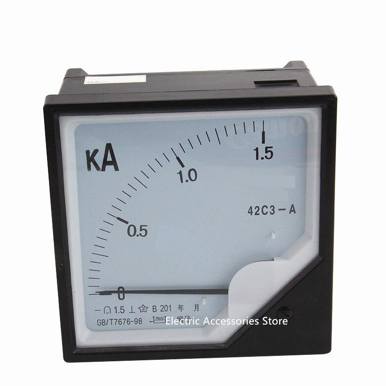 Professionelle Audiogeräte Dj Ausrüstung Und Zubehör Billiger Preis 42c3 1500a 42c3-a Dc Amperemeter 42c3-1.5ka Dj Ausrüstung Zubehör
