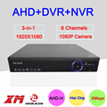 Sensor de Caixa de metal Hisilion Blue-Ray Três em Um DVR 8 Channel 8CH 1080 P/720 P/960 H AHD-H Coaxial NVR DVR Frete Grátis