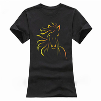 Print Horse Women T Shirts New Fashion Summer Short Sleeve Tshirt Girls Sexy T Shirt Pattern