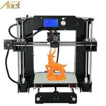 ЖК-Дисплей Upgrated Анет 3d принтер Большой Размер Печати Reprap Prusa i3 3d-принтер DIY Kit С Бесплатным Накаливания Алюминия очаг