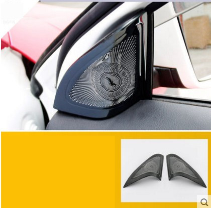 For Mercedes Benz GLA X156 Car Styling Car Audio Speaker Cover Car Horn Sticker Car Sivler Interior Trim Decoration Accessories 1 pair car horn dust proof cover speaker decorative circle