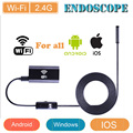 Endoscopio wifi para ios y android dispositivo 8mm lente 720 p inspección endoscopia cámara para iphone android y el ordenador