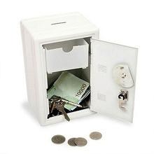 Rectangular Mini Strong Box Metal Safe Money Boxes Security Money Bank Deposit Cash Saving Box Password Savings Tank 2 Keys