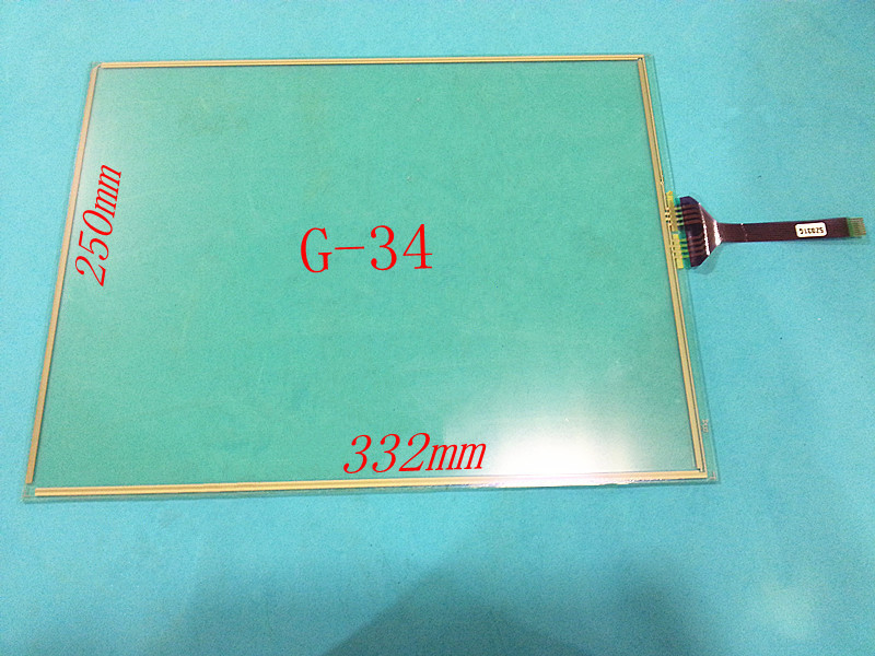 15.1 inch touch for GT/GUNZE USP 4.484.038 G-34 8wires touch screen panel glass free shipping цена и фото