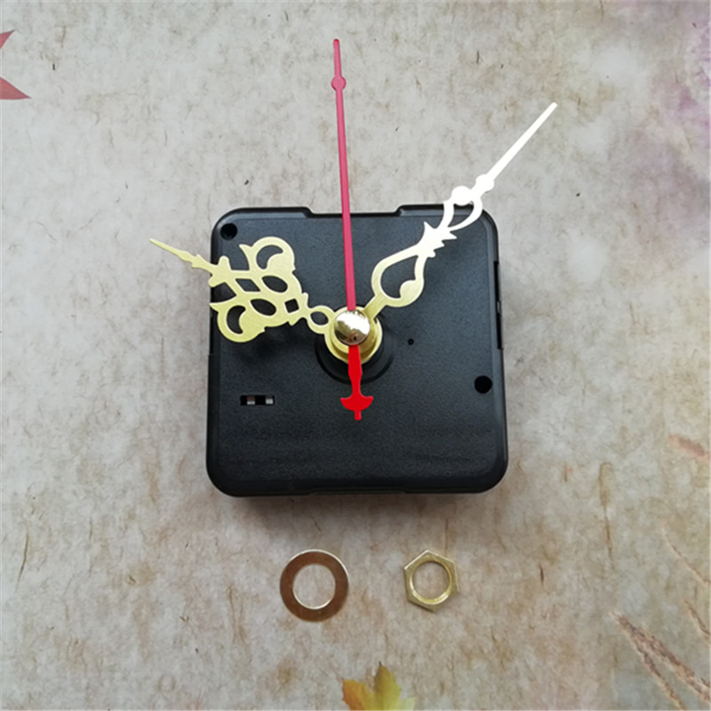 50Pcs 12Mm Sweep Motion Quartz Clock Mechanism Package Diy Wall Clock Machine Kits With Pointer