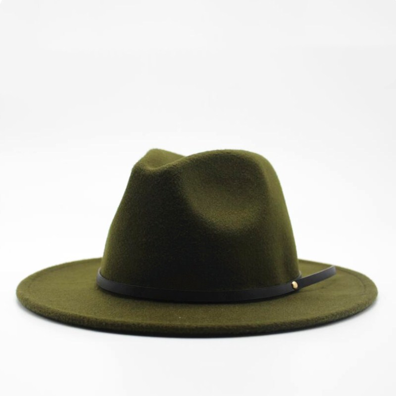 11adcd36143d2 Wool Fedora Hat Hawkins Felt Cap Wide Brim Ladies Trilby Chapeu Feminino  Hat Women Men Jazz Church Godfather Sombrero Caps-in Fedoras from Apparel  ...