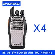 (4 PCS)BaoFeng UHF Walkie Talkie BF-A5 16CH VOX+Scrambler Function Free Shipping Two Way Radio