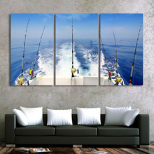 3 Piece Canvas HD Art Painting – Fishing Trolling Rods