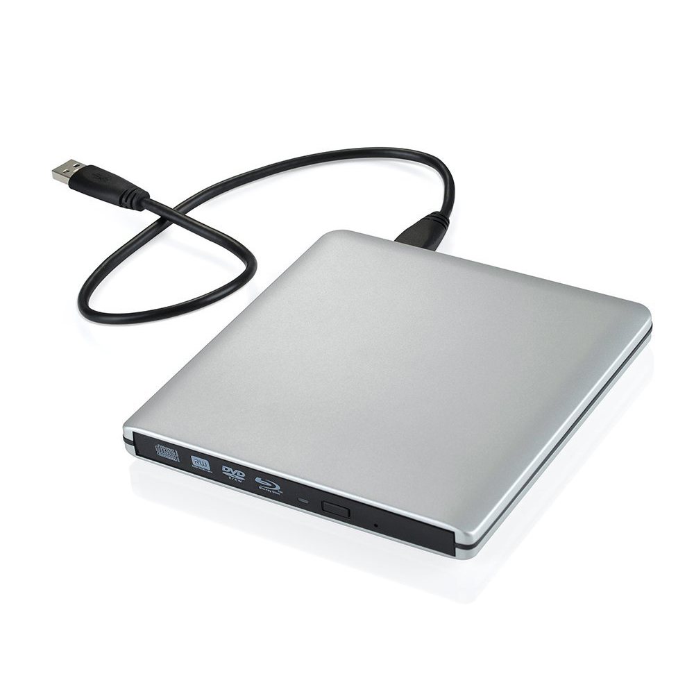 цена на Writer / Blu - ray External] Ultra Slim 3D Blu - ray Player Portable External USB 3.0 Reader / Writer BD - RW For MacBook Pro