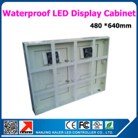 P10 led display cabinet waterproof standard cabinet for led display 640*480mm outdoor cabinet