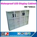 P10 led витрина водонепроницаемый стандартный шкаф для светодиодного дисплея 640*480 мм наружный шкаф