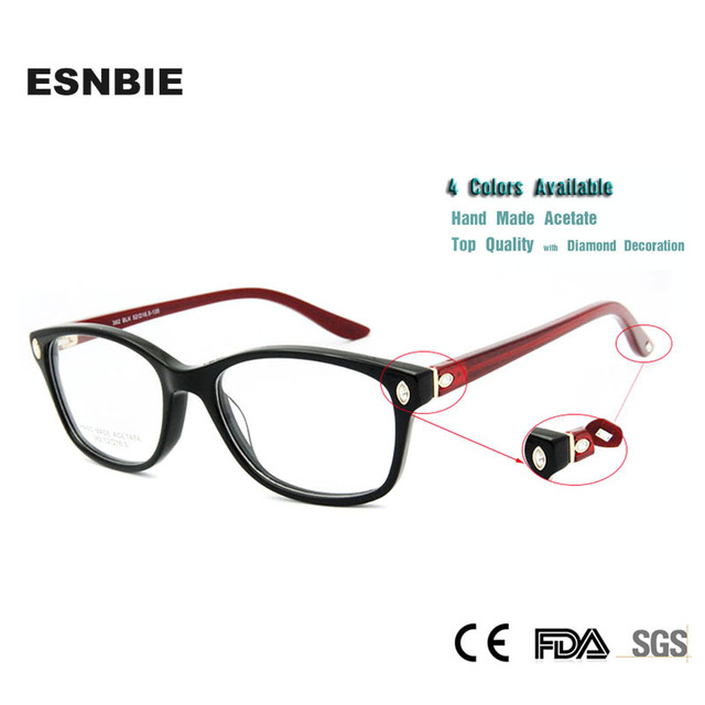 051a3d8283c17 ESNBIE Itália Design Óculos De Armação Mulheres Diamante de Luxo Qualidade  Original Marca de Óculos Óculos