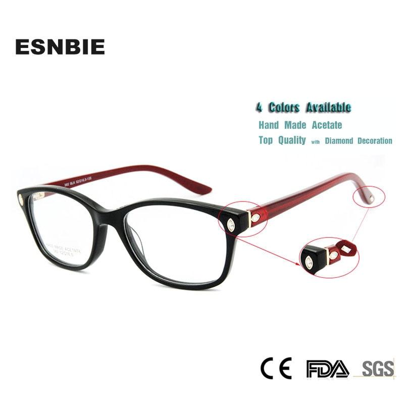 1a3488190 ESNBIE Italy Design Frame Glasses Women Luxury Diamond Original Quality  Myopia Computer Oculos De Grau Femininos Brand Eyewear-in Eyewear Frames  from ...