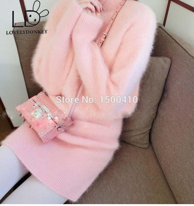 LOVELYDONKEYgenuine норка кашеміровий светр жіночий пуловер з кашеміру в'язане плаття На замовлення безкоштовна доставкаM696