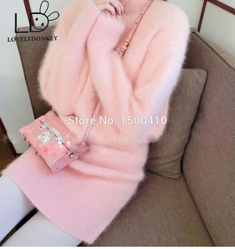 LOVELYDONKEYgenuine pulover od kašmira žene pulover od kašmira pletena haljina Prilagođena boja besplatna dostavaM696