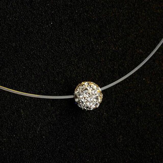 Nieuwe Vrouwen Transparante Vislijn Ketting Onzichtbare Ketting Kettingen Hangers Strass Choker Kettingen Mode-sieraden