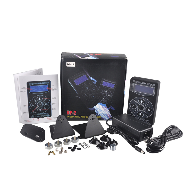 Professional Tattoo Power Supply Hurricane HP-2 Power Supply LCD Display Digital Dual Tattoo Power Supply Machines Hot sale professional tattoo power supply hurricane hp 2 power supply lcd display digital dual tattoo power supply machines hot sale