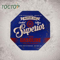 TOCTOP Tin Plaque Motor Oil Superior Gasoline 1969 Garage Signs Pub Bar Stickers Decor Iron